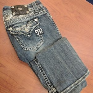 "Miss Me Jeans Bootleg Size 27 Inseam 33"" Sequins"